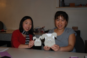 Finished projects. Of course, Twyla left before I can get a group picture.
